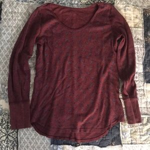 Free People floral thermal LS shirt